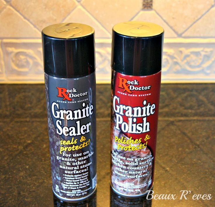 Beaux R'eves: Home Maintenance~Sealing and Polishing Granite
