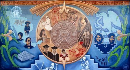 Chicano history mural raza pinterest chicano for Mural chicano