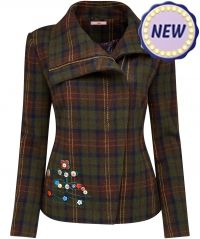 Joe Browns Checked Biker Jacket
