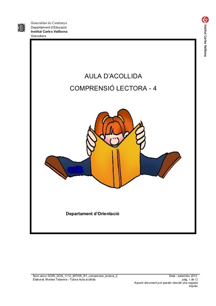 Dori dos 1112_mt006_r1_comprensio_lectora_4 by mtalaverxtec via slideshare