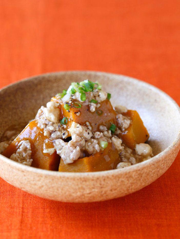 【ELLE a table】かぼちゃの鶏そぼろあんかけレシピ|エル・オンライン