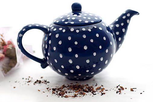 Majolika-R / Kobaltový bodkatý čajník