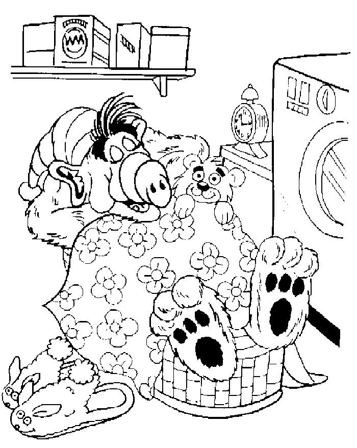 12 best Alf images on Pinterest  Coloring pages for kids Free