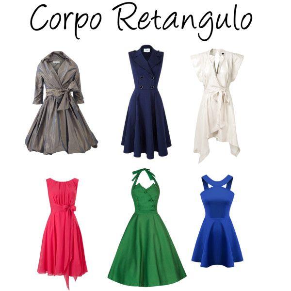 Corpo retangulo - vestidos