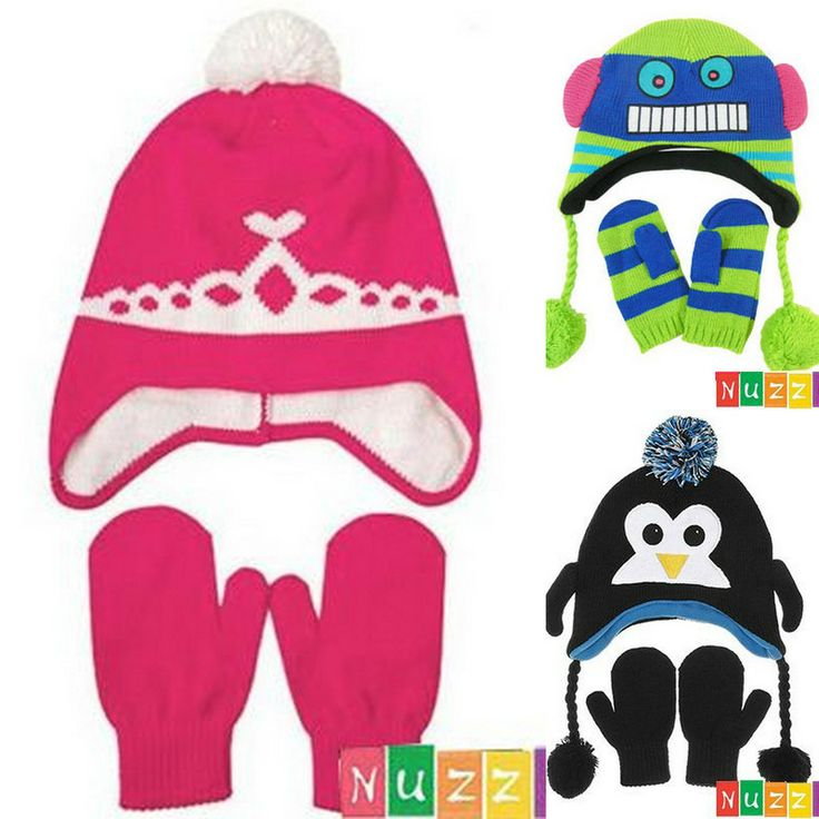 Nuzzles Hat and Mittens Set