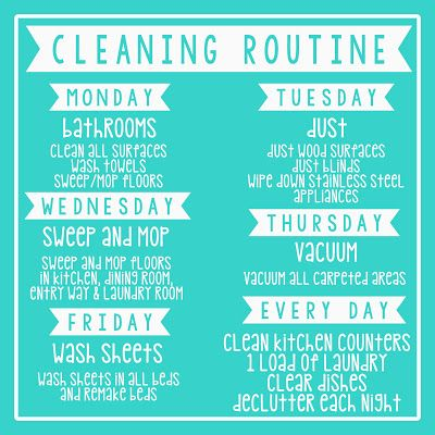 Simple Cleaning Routine