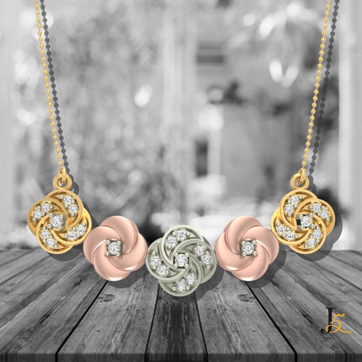 Introducing our timeless piece from #Elite #Collection! Shop Here : https://jewels5.com/Collections/Elite/Trio-Rosy-Diamond-Pendant #NewArrival #NewLaunch #NewCollection #StylishJewellery
