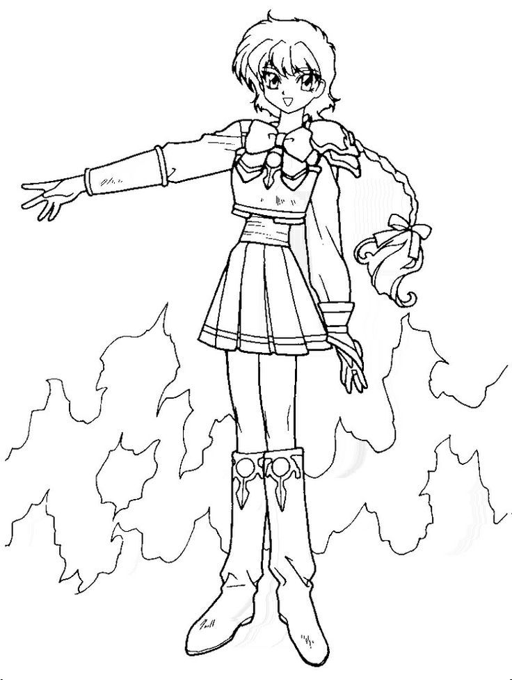 Magic Knights Rayearth Coloring Pages