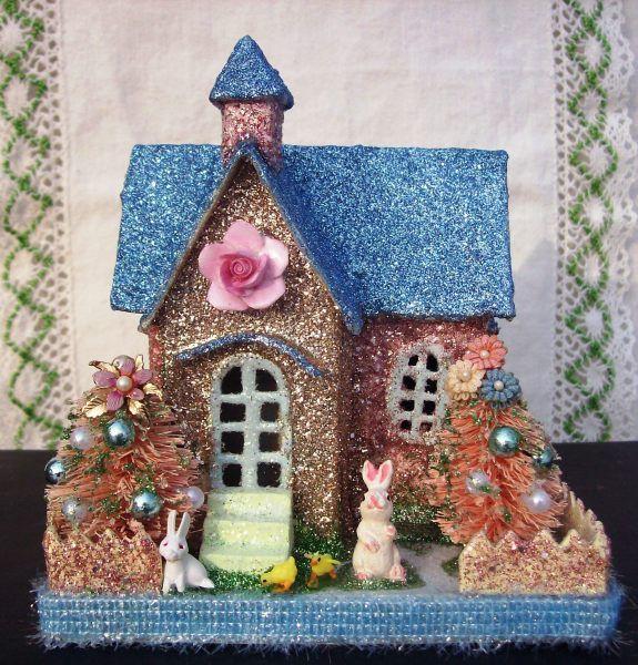 Easter Putz House - I Antique Online
