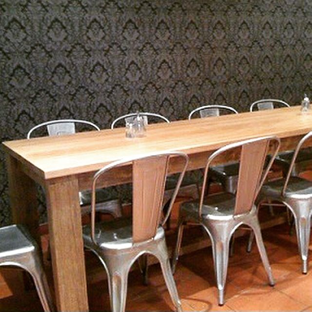 """""""Rabbit Trap Timber's"""" Handcrafted Recycled Timber Table at Roast Cafe, Bowral"""