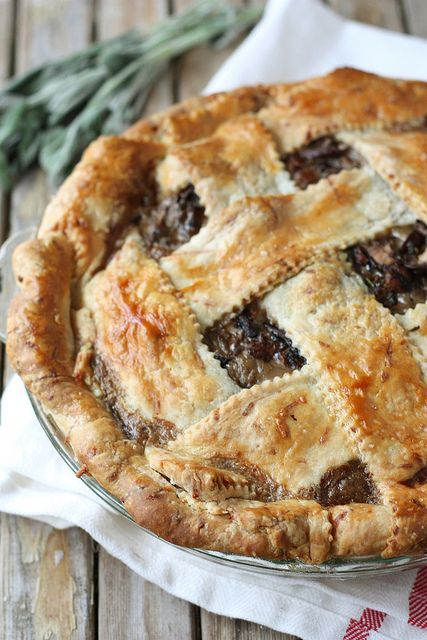 Beautiful Savory Pie: Wild Mushroom Pie with Parmesan Crust by Completely Delicious
