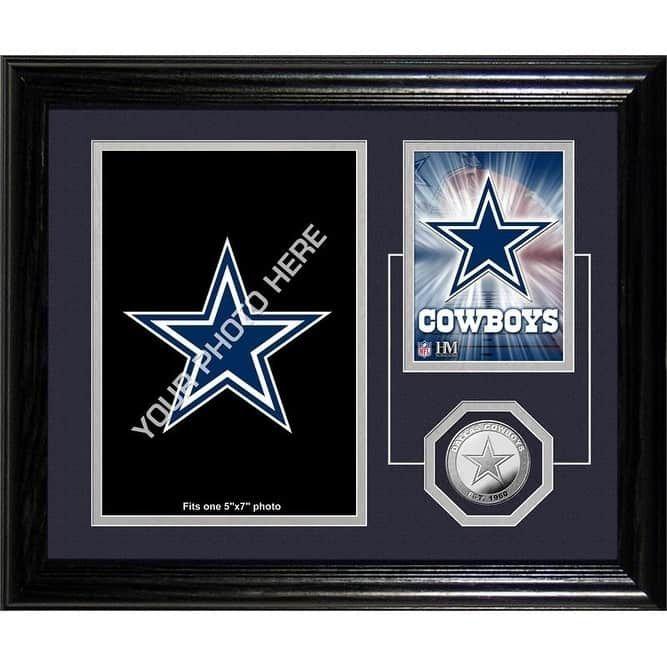 """Dallas Cowboys """"Fan Memories"""" Minted Coin Desk Top Photo Mint -"""