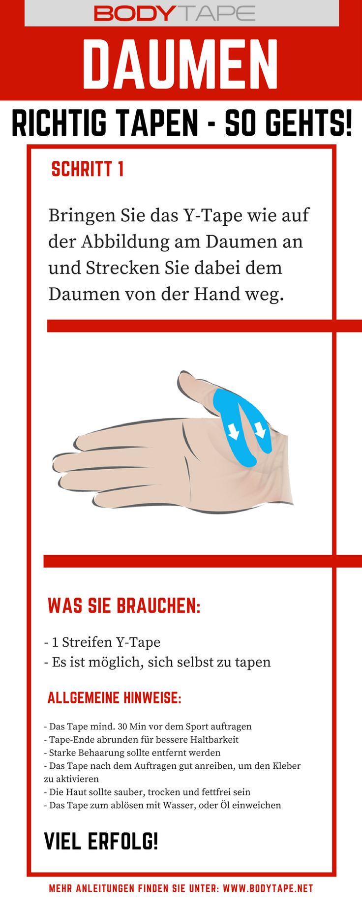 Daumen Tapen Anleitung - Kinesiology Tape Anleitung für den Daumen - Lerne jetzt den Daumen richtig selbst zu tapen!