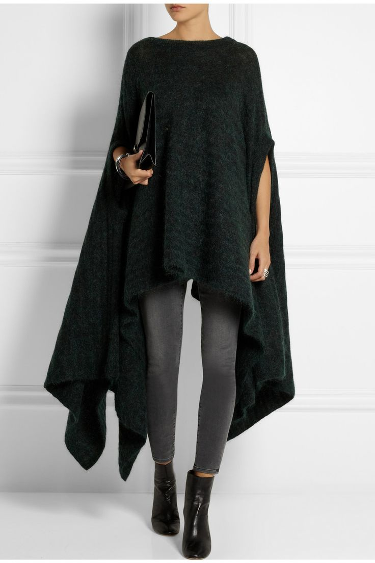 Acne Studios | Oversized draped knitted sweater #fashion #trends #luxury #designers #textiles #textures #drapes #black #fallwinter #design #details