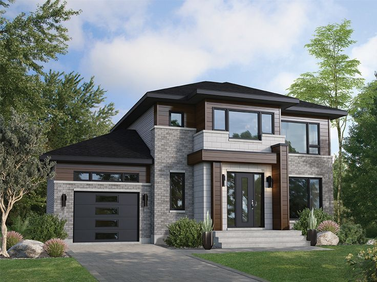 072h 0259 Modern House Plan In 2020 Contemporary House Exterior Modern House Plan House Designs Exterior