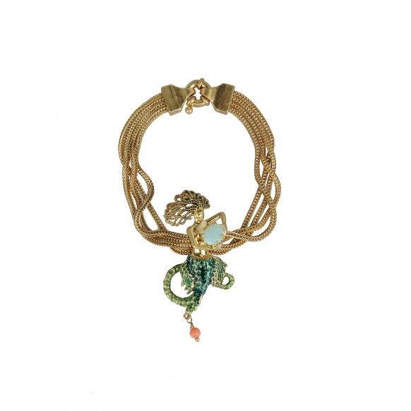 Large bracelet multi chaînes Déesse de la mer (medium)