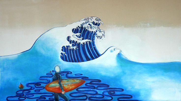 Big Wave  Acrylics on Linen