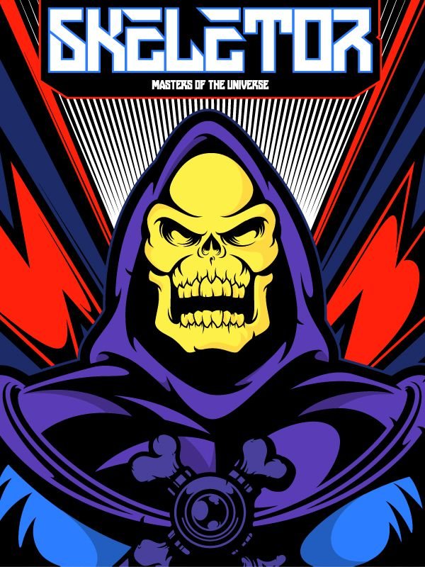 Skeletor from Masters of the Universe by Salvador Anguiano, via Behance