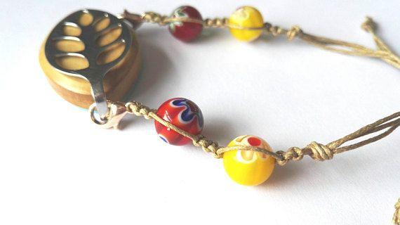 Bellabeat macrame bracelet with Italian millefiori beads in my Etsy shop https://www.etsy.com/uk/listing/512190614/bellabeat-bracelet-macrame-style