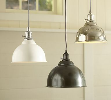 PB Classic Pendant - Metal Bell #potterybarn - simple kitchen island lighting at a great price - $119