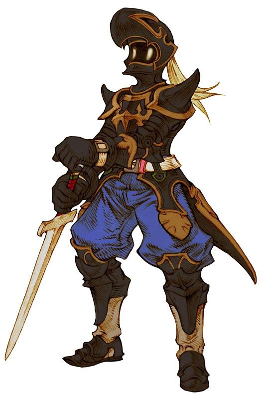 Week 16 - Final Fantasy Tactics - Concept Art Sun - Dark Knight Male (Some of these may be from WoL)
