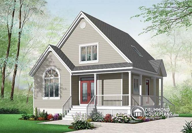 W2597 v1 cape cod style 2 bedroom cottage plan with 2 for Cape cod cottage house plans