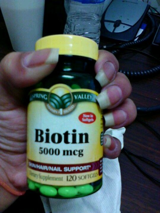 Biotin really works for to grow nails and hair!
