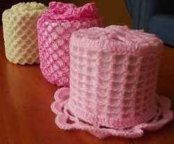 Resultado de imagem para porta papel higienico de crochet