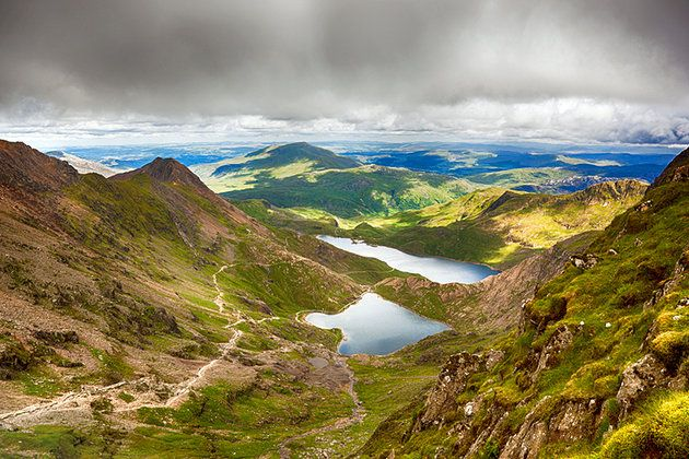 Snowdonia, the beautiful range of mountains and hills located in the county of Gwynedd, Wales