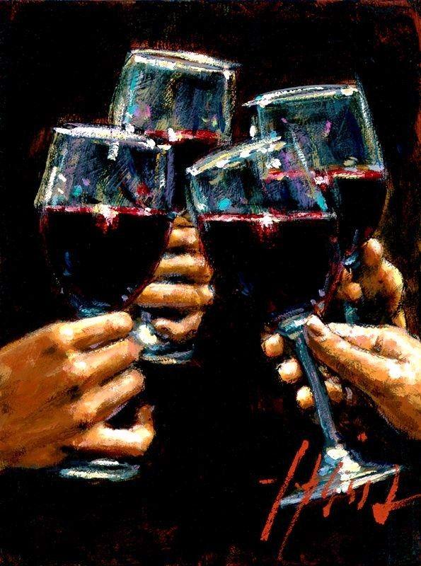 Très belle peinture qui montre bien l'idée de partage du vin  #Vinvinvin