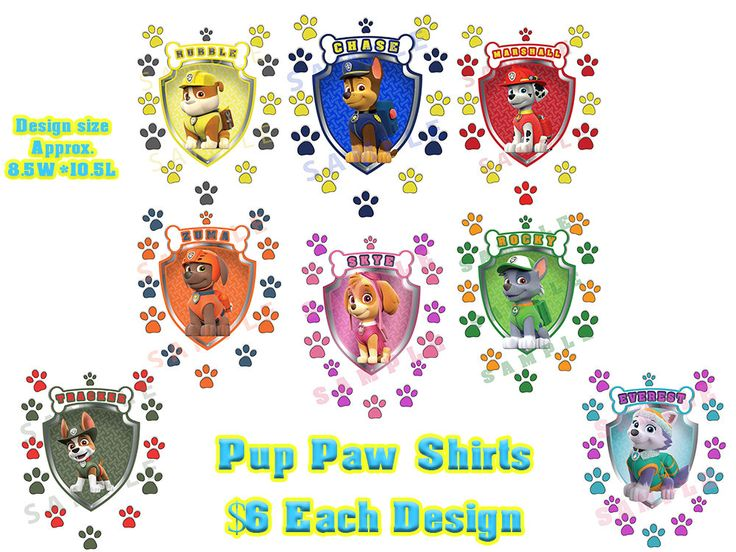 Paw Patrol - Pup Paw Shirt Iron on Transfer by MadeByMegStudio on Etsy