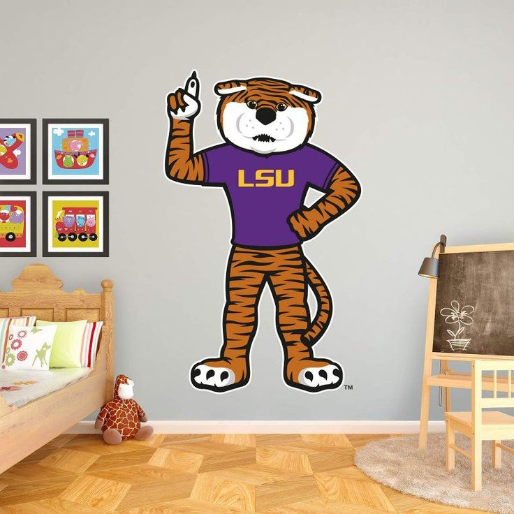 Fathead NCAA LSU Mascot - Mike The Tiger Wall Decal - 61-61884