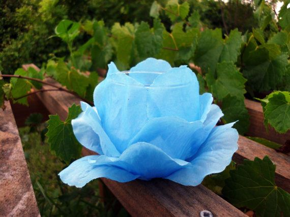 Handmade Tealight/Votive Holder Blue Faux Rose by BlackWillowSoaps, $13.80: Mothers Day Gifts, Gifts Handmade, Mother Day Gifts, Faux Rose