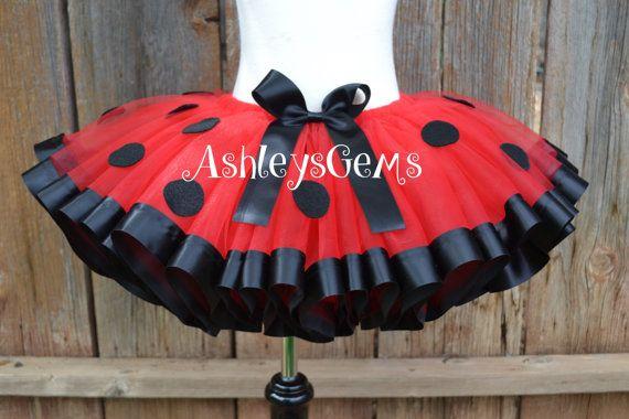 Ladybug Costume Ladybug Tutu Ladybug Birthday by AshleysGemsShop