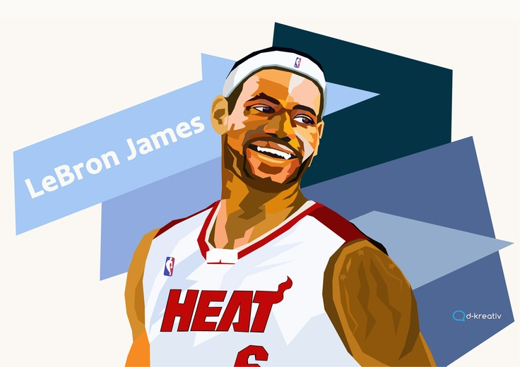 Lebron James portrait