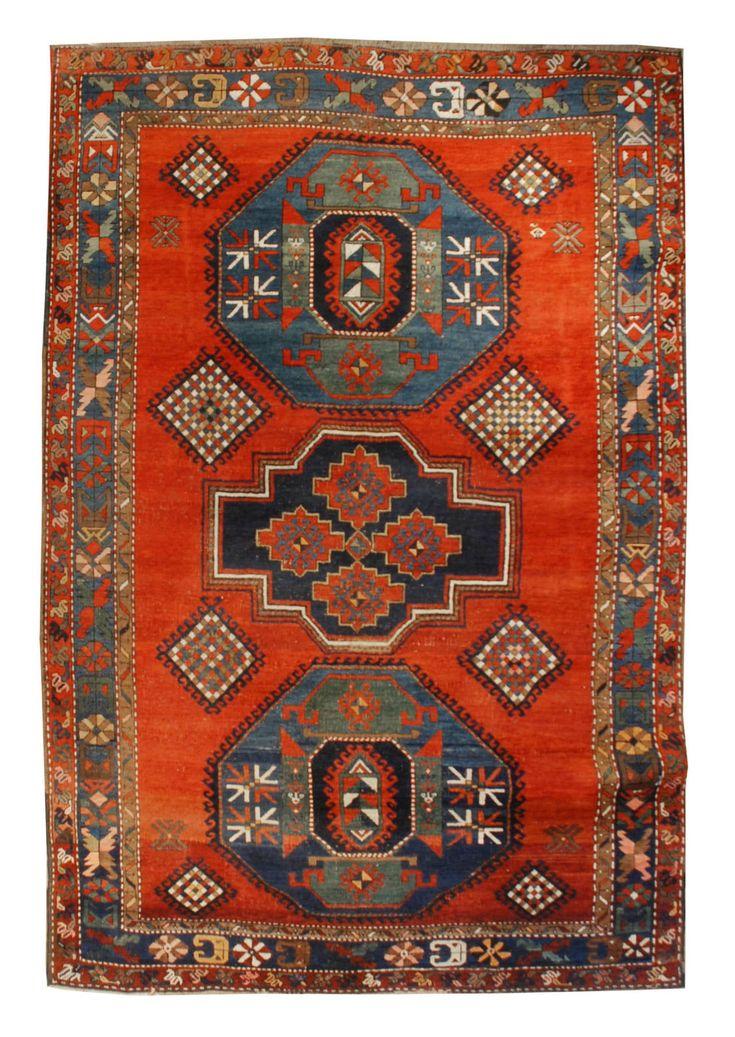 19th Century Kazak Rug (con immagini) Tappeti, Persiane