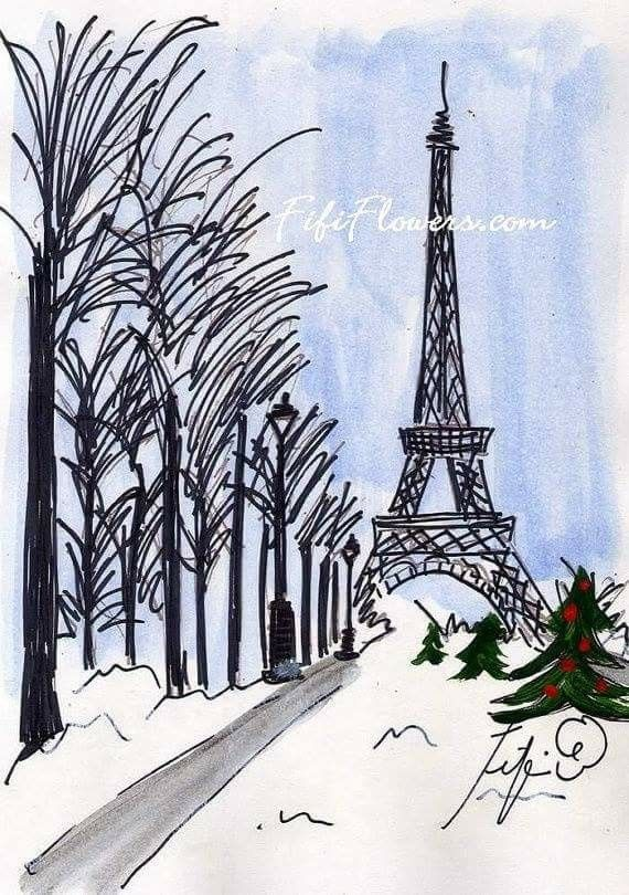 PARIS de mes Amours Des cartes de Noël, personnalisées de Paris
