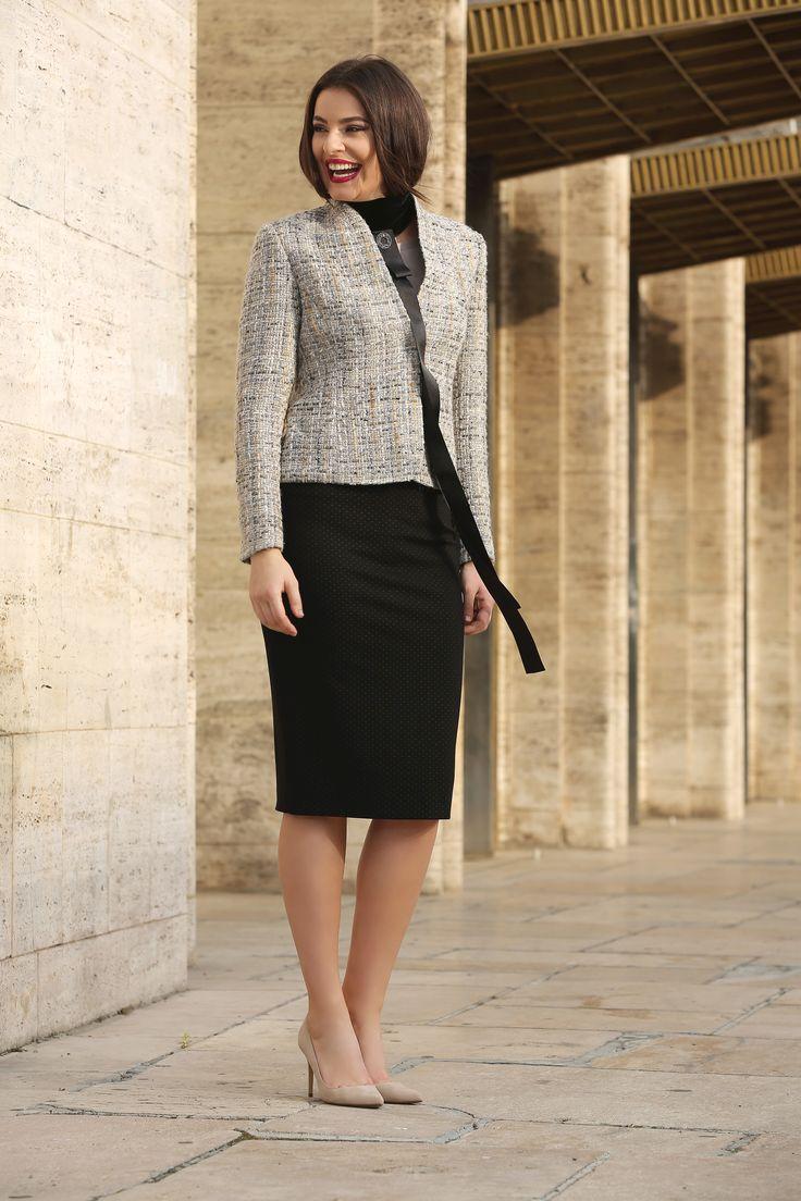Wool & cotton YOKKO | Fall16  #jacket #wool #cotton #newcollection #style #evening #fashion #yokkoinspiration #style #women