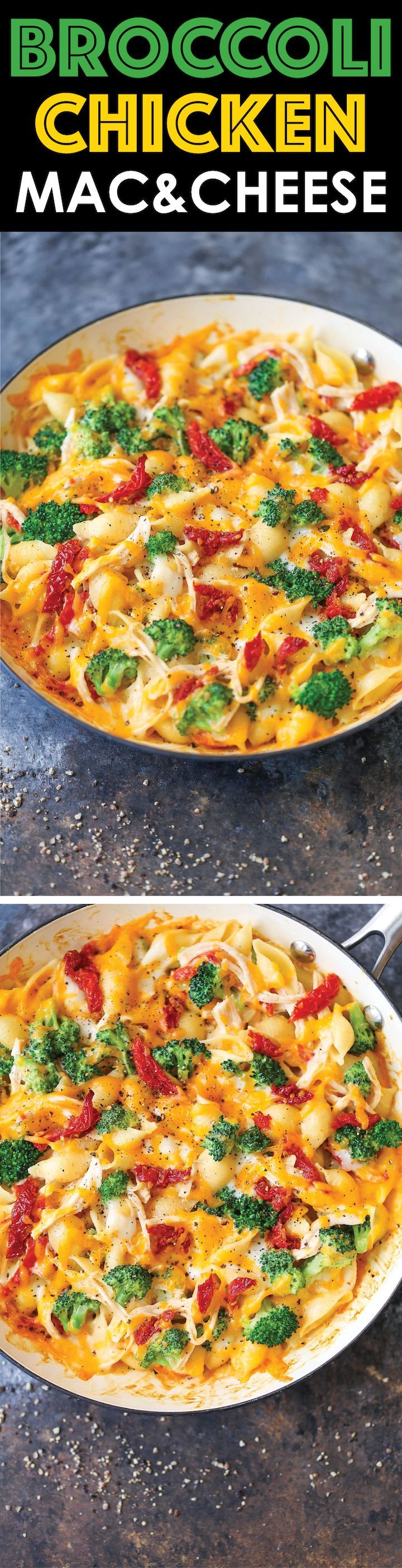 Broccoli Chicken Mac and Cheese - This lightened-up mac and cheese is the best…