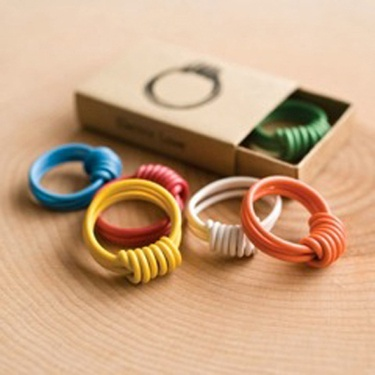Electric Love Ring made from recycled wire