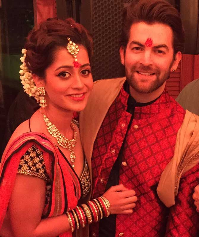 Neil Nitin Mukesh and Rukmini Sahay. #Bollywood #Fashion #Style #Beauty #Hot #Ethnic