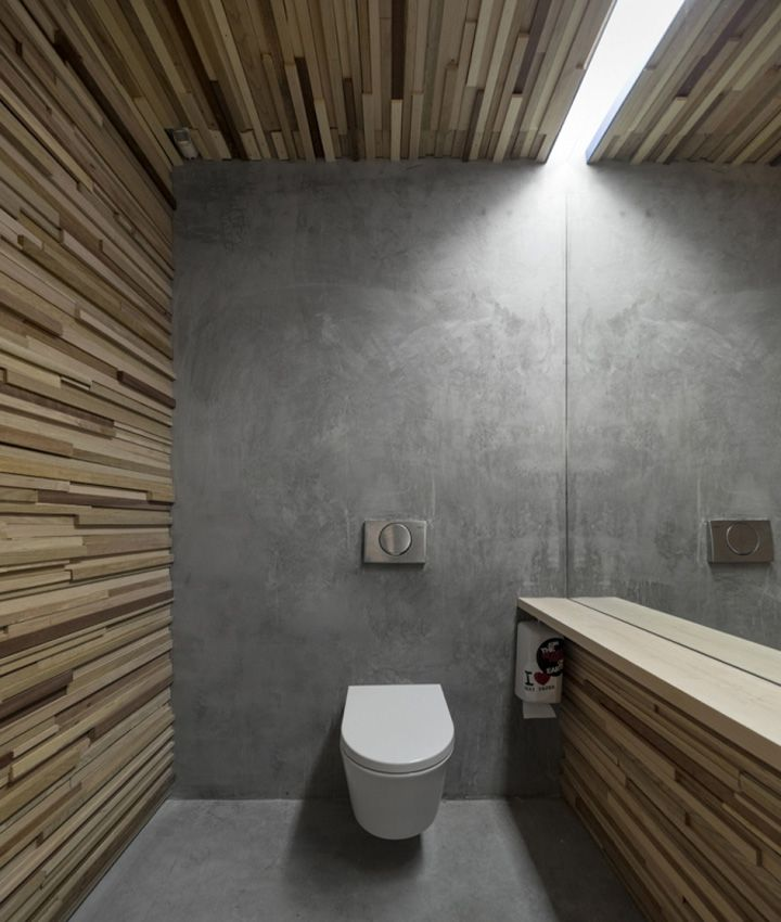 Renova All Public Restroom by Miguel Vieira Could be achieved with wallpaper too