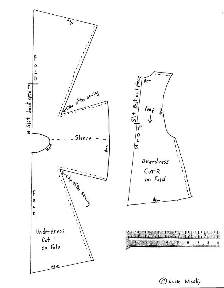 patron robe poupée médiévale
