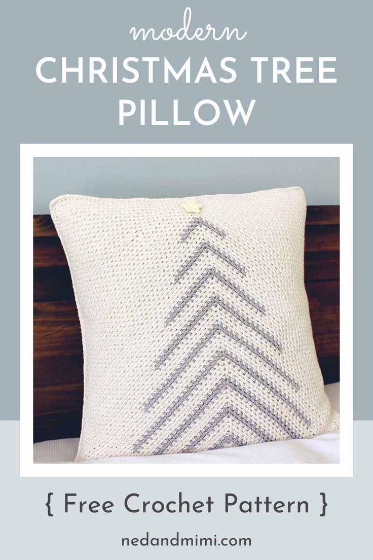 Modern Crochet Christmas Tree Pillow Free Pattern Ned Mimi Crochet Pillow Patterns Free Christmas Tree Pillow Crochet Pillow Pattern