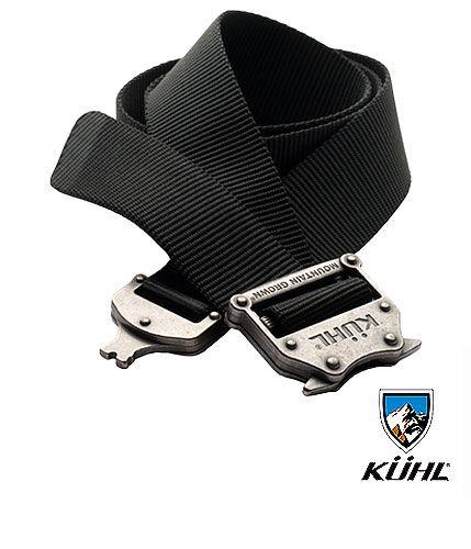 € 29 Kuhl - Cinturon RAID™ Belt La características del cinturon Raid es su cinta precurvada para que coincida perfectamente con la cintura de los pantalones Kuhl. Hebilla metalica tipo paracaídas de liberación rápida. Envios a toda España.