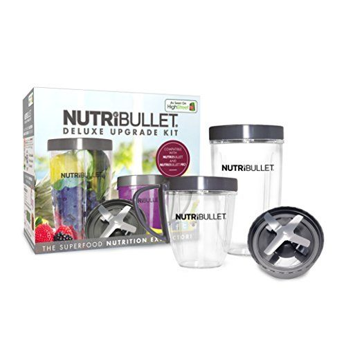 From 16.99:Nutribullet Deluxe Accessories Kit Additional Cups And Spare Blades 0.68 Litre Grey