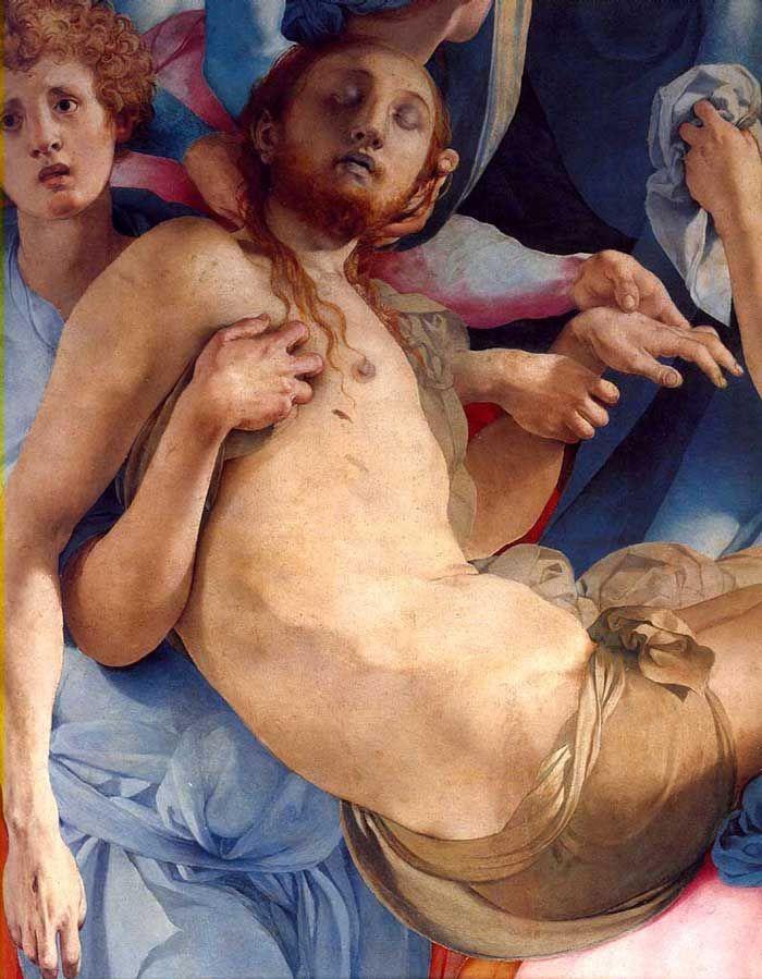 Jacopo Pontormo, Deposition, detail, 1525-28, (panel), Capponi Chapel, Santa Felicita, Florence