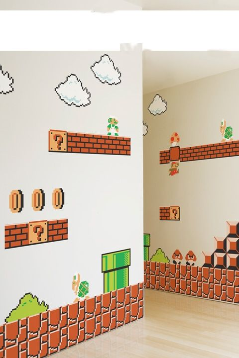 Super Mario Decals - for the boys! When we buy a house, this is happening!