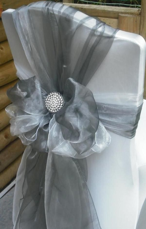 Silver Wedding Chair Decor Ideas