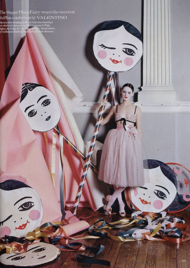 I like these people lollipops. I'd have a whole house of them. Tim Walker, Ballerina
